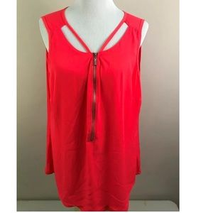 NEW City Chic Sleeveless Blouse Coral Pink 16W